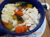 雞絲南瓜湯麵(悶燒鍋版)