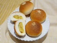 地瓜小餐包。無奶油版本。簡易麵包機食譜