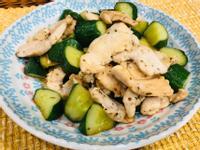 超簡單香煎雞胸肉炒小黃瓜