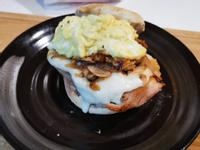 西式蘑菇薯泥嫩腿堡