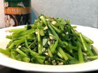 黃豆醬炒空心菜/康寶自然鮮嫩雞風味調味料