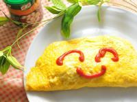 玉米嫩雞風味蛋包飯