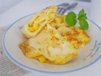 簡單做「玉米起士蛋餅」皮軟Q、好好吃~
