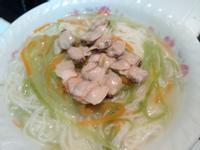 絲瓜蛤蜊麵線 刨絲刀料理 唬外國人的伎倆