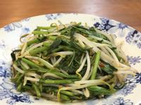 沙茶空心菜炒豆芽