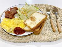 [早午餐料理]培根美式炒蛋