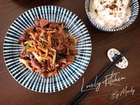 沙茶雙菇炒牛肉