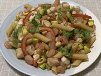 涼拌和風海鮮斜管麵