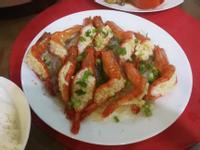 蒜蓉粉絲蒸蝦