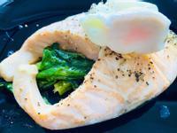 鮭魚鮮蔬水波蛋