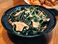 鮮菇炒地瓜葉