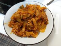 炒泡菜豬肉片