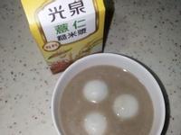 芝麻湯圓+薏仁糙米漿