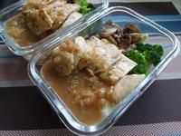 【減脂便當】鹽醃雞胸肉&蒜味薯泥