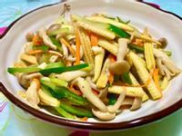 清炒玉米筍鴻禧菇
