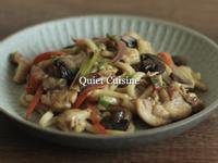 磨菇雞肉炒烏龍 簡單 日常