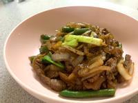 蔥爆牛肉+四季豆