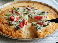 蘑菇番茄空心菜米披薩