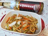 日式炒泡菜烏龍麵【58藜麥高粱醋】料理♥