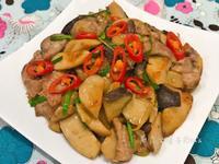 麻油杏鮑菇炒肉片