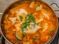韓式新豬肉嫩豆腐鍋(五辛蛋素)