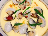 蛤蠣麻油蒸蛋