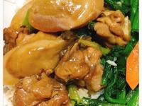 杏鮑菇葱燒雞