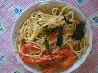 塔香鮮蝦義大利麵