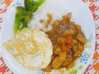 鑄鐵鍋咖哩雞肉飯