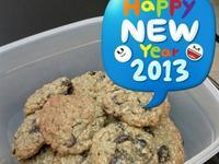 HAPPY 2013 - 蔓越莓燕麥餅乾