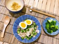 秋葵豬肉拌飯