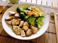 烤杏鮑菇+鹹蛋花椰菜