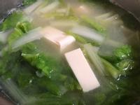小白菜豆腐味噌湯