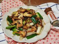 台式燒烤風日本大蔥炒香菇