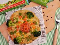 纖翠三色蔬菜蔥油餅PIZZA