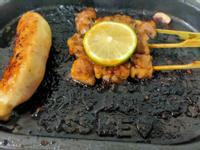 烤鴨肉串和干貝