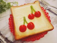 萌萌的「櫻桃起士吐司」可愛到捨不得吃♡