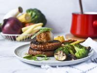 [蔬食]蜜汁醬燒烤肉堡排
