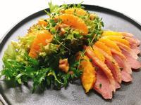 煙燻鴨胸甜橙沙拉