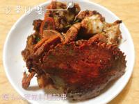 。沙茶炒蟹。