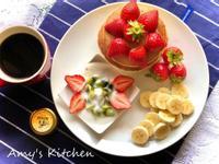 下午茶-草莓鬆餅 (減油減糖版)