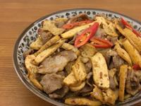 椒麻豆乾炒肉片