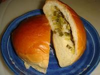 用麵包機做蔥花餡●麵包