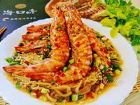 蒜蓉蒟蒻菇菇蒸明蝦