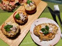 焗烤螃蟹馬鈴薯番茄盅(澎湖野生石蟹)