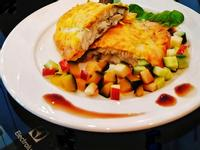 蒜香蛋黃醬焗烤比目魚