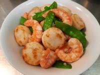 荷蘭豆炒雙鮮(干貝+蝦仁)