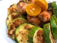 味噌櫛瓜鮭魚