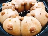 早餐-萬聖節巧克力豬豬包