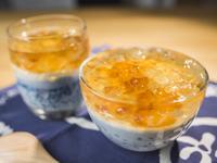 桃膠西米椰奶凍